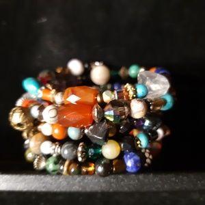 Jewelry - Memory wire Gemstone Bracelet